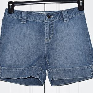 White House Black Market Jean Shorts Size 0